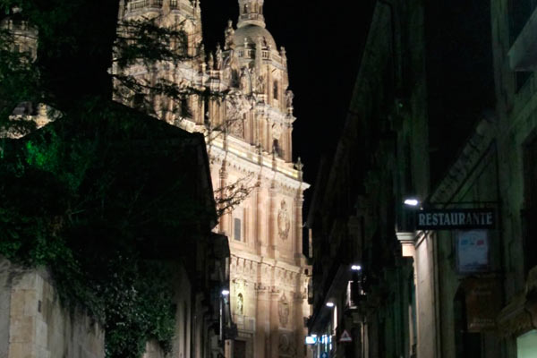Vistas de Salamanca por la noche