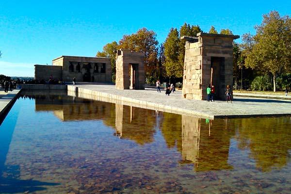 Imagen del Templo de Debod en Madrid
